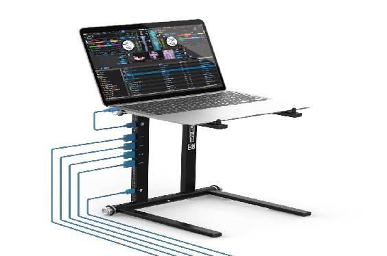 Soporte para portátil con hub USB integrado de Reloop